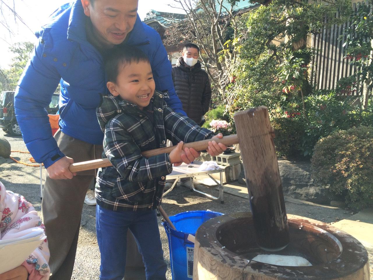 海徳寺 餅つき大会