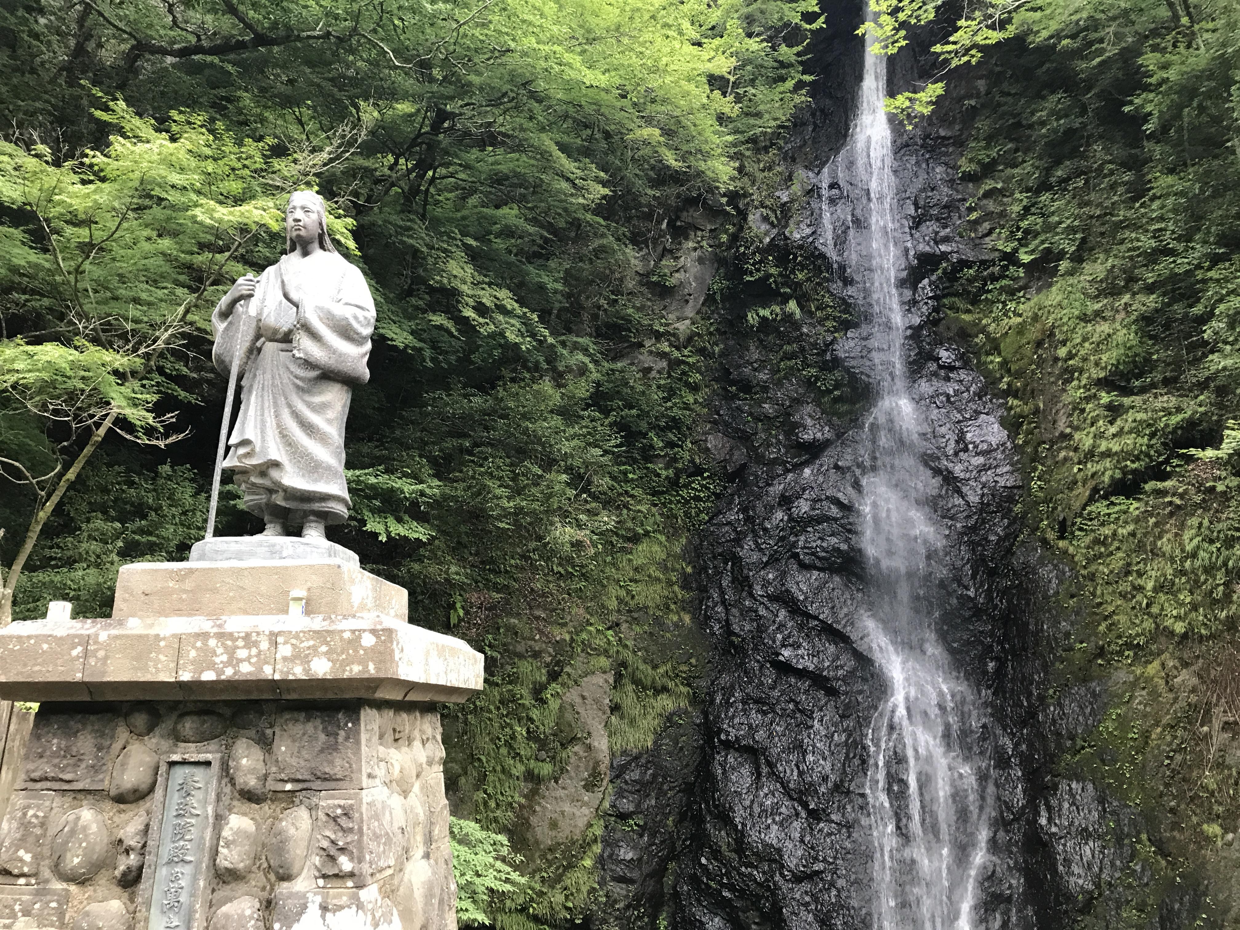 お万の方と七面山白糸の滝